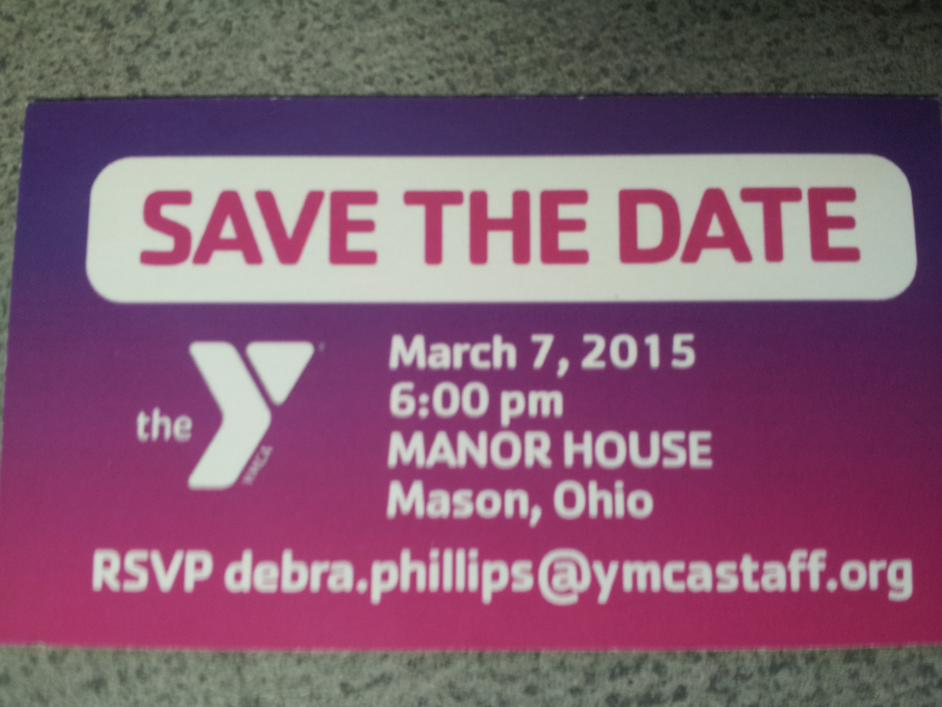 YMCA save the date 2015